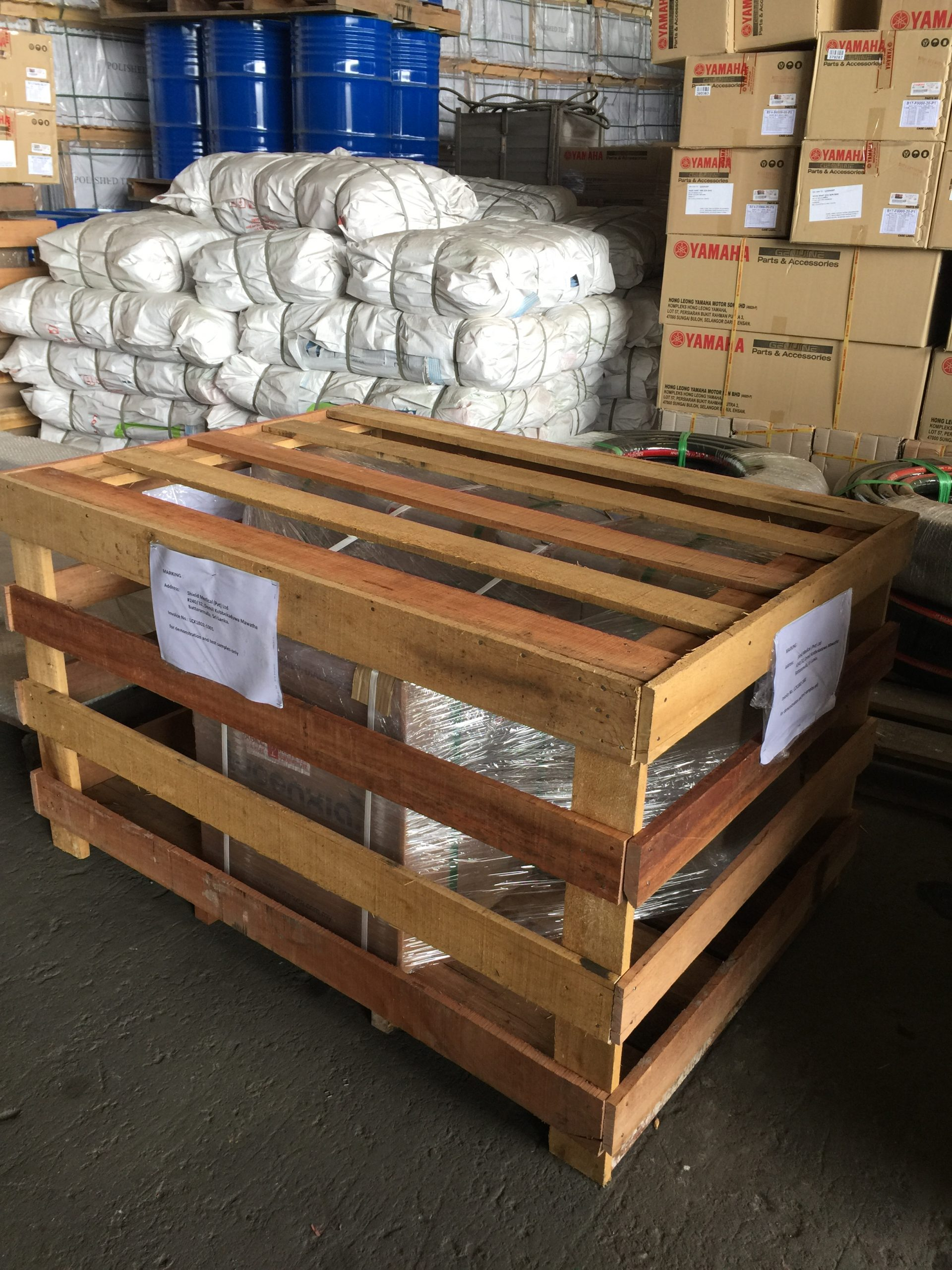 Logistics Company in Klang Malaysia packing goods